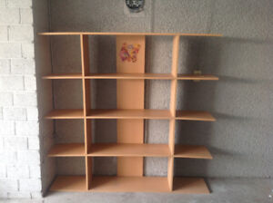 Book shelf/ kids table with 2 chair