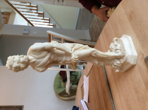 A. SantiniVintage David Bonded Marble Statue Sculpture 16 inches