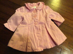 Sweet Gymboree baby girl trench coat, size 6-12 months