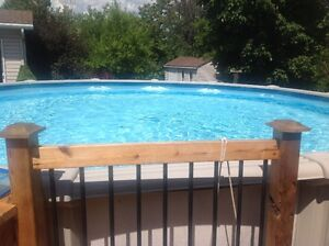 """picine /pool 21 """" above ground very good condition"""