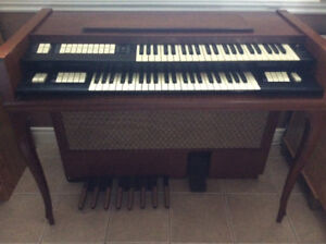 Electric Organ Conn brand, with bench