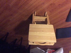 Solid wood mini fold up eating tables