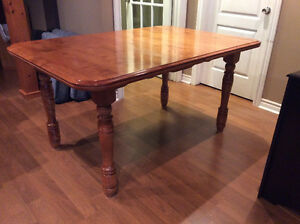 Solid maple dining table for sale