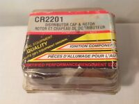 DODGE 6 CLY  DISTRIBUTOR CAP & ROTOR CR 2201 ( NEW OLD STOCK )
