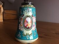 Victorian sugar shaker with silver cut too