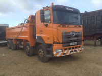 HINO FY 2PUKA 700 324i 8X4 TIPPER THOMPSON BODY REV CAMERA