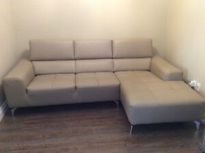 Italian Leather Sectional Couch