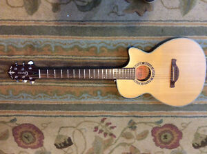Crafter slim body acoustic/ electric guitar