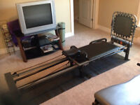 Aero Pilates machine with stand,rebounder and 4 DVDs