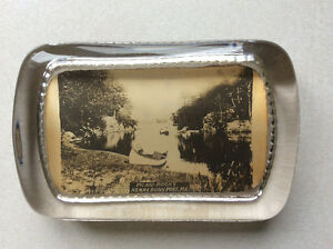 Vintage Glass Paperweight - Kennebunkport, Maine