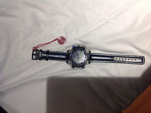 Men's Blue Stainless Steel Shark Watch