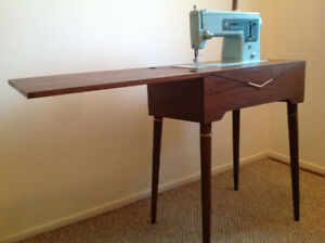 Retro SINGER sewing machine with table