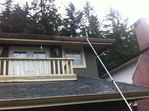 Gutter Scrubbing And Yard Clean Up! Cleaning W/O Chemicals North Shore Greater Vancouver Area image 1