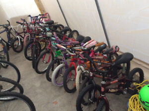 FANTASTIC SELECTION OF GOOD USED KIDS BICYCLES REASONABLE PRICES