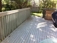 STAIN DECK AND FENCES, GARAGE FLOOR,& EXTERIOR PAINTING