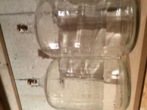 Glass large wine bottles