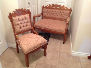 Antique Chair  & Love Seat