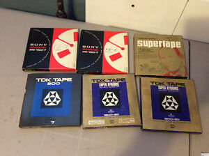 Lot of 6 Reel to Reel Recording Tapes Sony - TDK