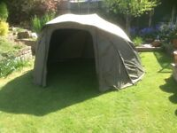 Nearly new Fox MKII supa brolly complete system carp fishing brolly bivvy