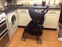Black push chair baby sport