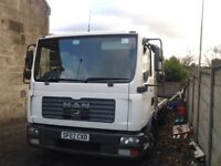 Man recovery truck 7.5 ton