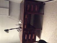 Antique solider oak wood desk for sale.