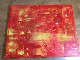 Abstract Painting, Red, 40 x 50