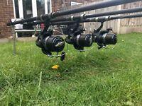 Shimano Medium Baitrunner XT-A Long Cast Reels x3