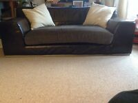2 seater leather fabric sofa £70.00ono