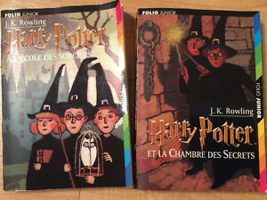 2 livres d'Harry Potter