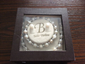 New pearl necklace and earrings