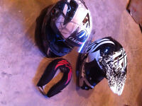 2 ATV helmets, near new 1 adult XL and 1 child. $100 for both.