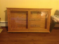 Hand crafted Oak cabinet