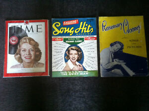 OFFERS? ROSEMARY CLOONEY 2 Magazines 1 Songbook 6 Sheet Music