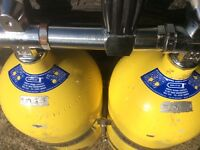 Faber 10 litre twin set IN TEST with custom divers bands