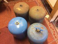 Four Calor Butane Gas Bottles. 2.72kg