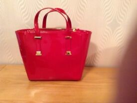 Genuine Ted Baker Red Patent Handbag