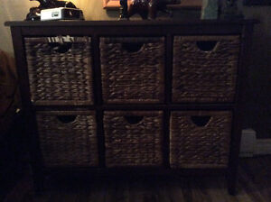 Dresser with Wicker Drawers