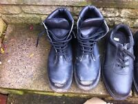 Steel cap boots and shoes