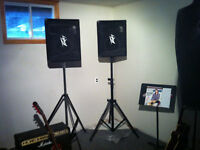 PA system with microphones