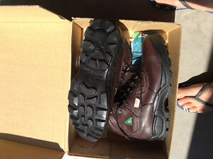 Brand new men's  steel toe boots (leather). Size 9