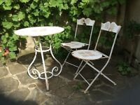Vintage Chic - Garden Steel Table and Chairs