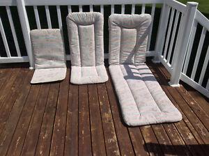 Ensemble de coussins chaise extérieur