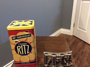 For sale coin changer and ritz cracker container