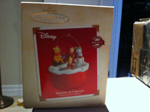 Hallmark Winnie The Pooh Skating In Circles Animated Ornament