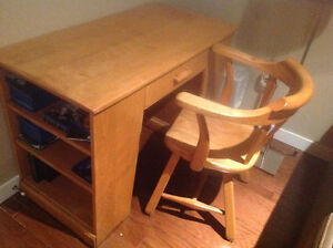 Desk and matching chair