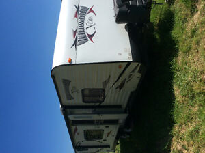 2014 Wildwood 18.5 towable by Forest River.