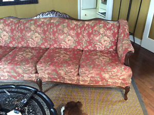 French provincial couch and chair