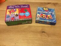 Number Floor puzzle and Bob the Builder Memory Game