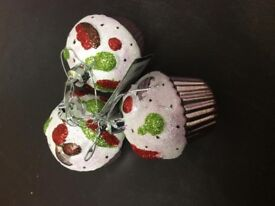 3 brand new cup cake decorations